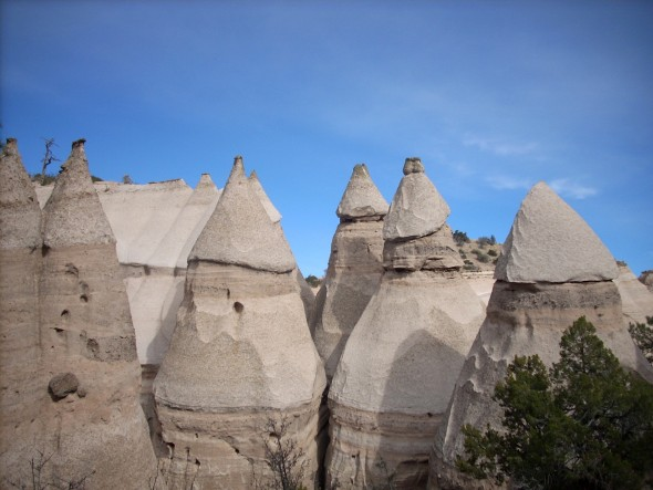 The temple/missile effect. Tent Rocks National Monument, New Mexico, 2010. (Photo by Audrey Hackett)