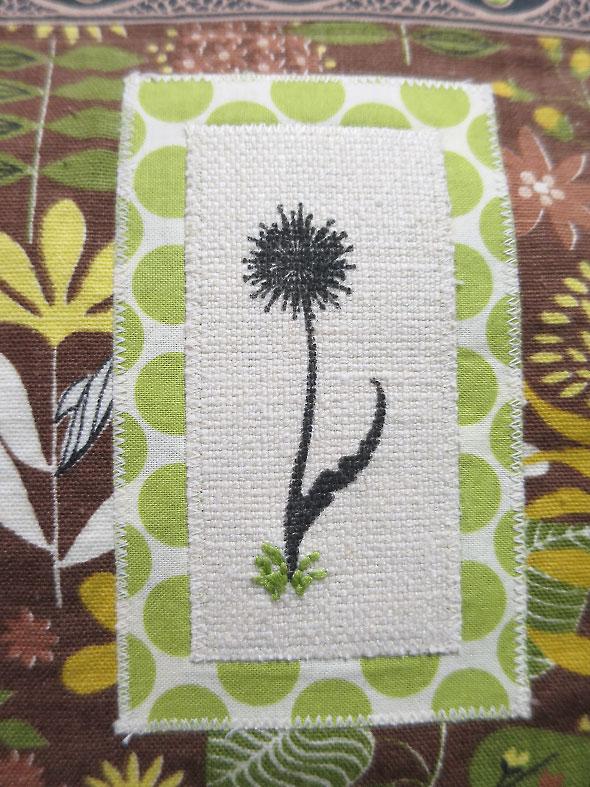 dandelion detail on handbag by Kim Gillie Krier