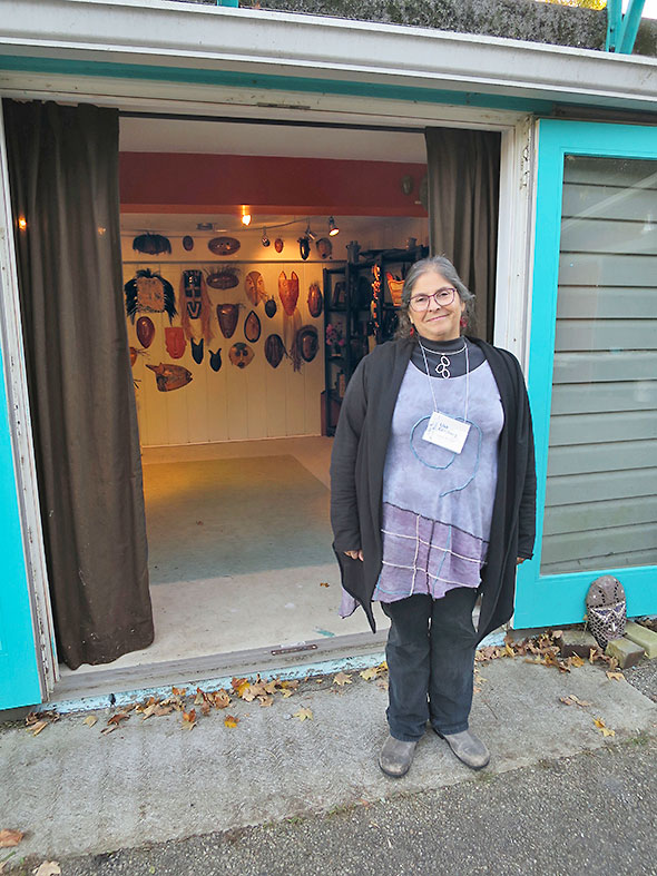 host and organizer Goldberg at the end of the 15th Yellow Springs Artist Studio Tour