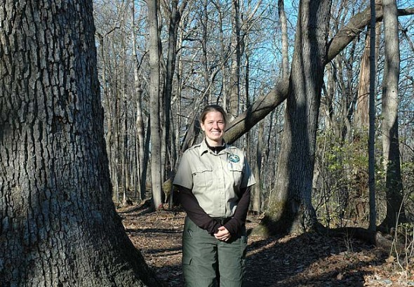 Susan Smith is Glen Helen's full-time ranger. Her daily routine entails the work of a peace officer, ecologist, guide and land steward, and her background makes her especially suited to the job. The Glen has always been a special place to her, she said, so despite the occasional trouble she has to attend to, the chance to be a ranger in a place so personally meaningful is a rewarding and emotional opportunity. (Photo by Dylan Taylor-Lehman)
