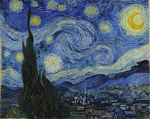 "Night sky in motion. Vincent Van Gogh, ""The Starry Night,"" 1889. (In the public domain)"