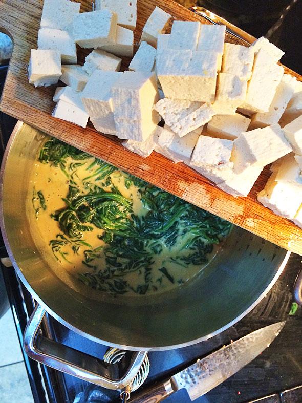 add cubed tofu