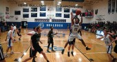 YSHS JV Bulldog #15 Tyrese Benning went airborne to take a shot against the Bethel Bees last Saturday. The JV, Varsity and Lady Bulldogs played consecutive games against the Bees at home on Dec. 19. (Photo by Dylan Taylor-Lehman)
