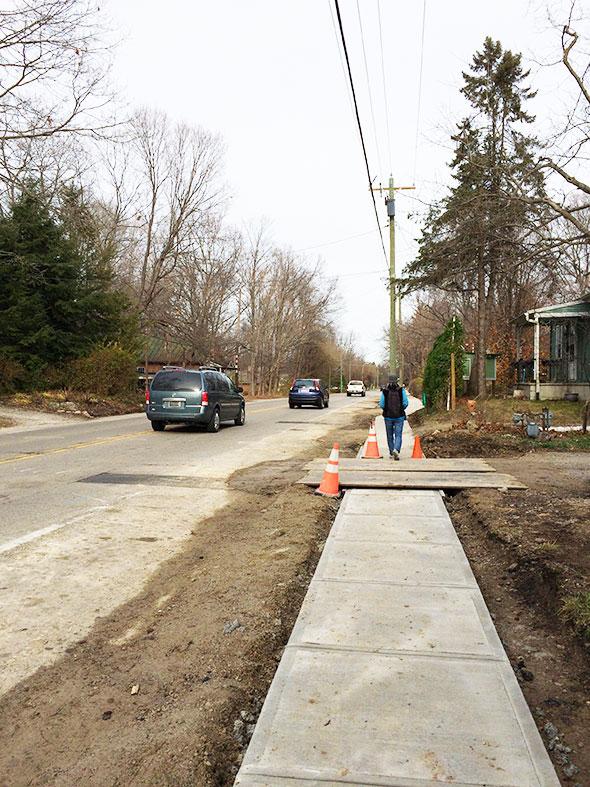 new sidewalk along Xenia Ave
