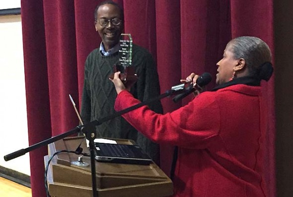 Antioch College Assistant Professor of History Kevin McGruder was recently honored with the first annual Dr. Martin Luther King Jr. Award. (Submitted Photo)