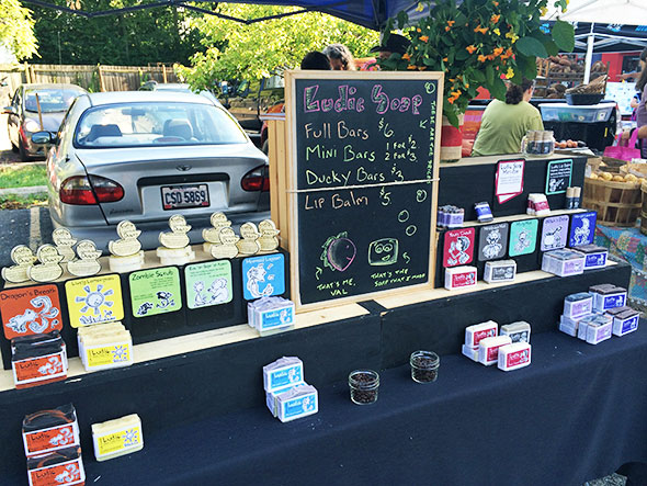 Ludic Soap at the Yellow Springs Farmers Market