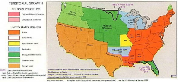 Note the Arkansas Territory, Noland's stomping grounds