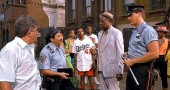 "The 365 Group will sponsor a free screening of ""Do the Right Thing"" by Spike Lee this Saturday, Feb. 20, at 11 a.m. at the Little Art Theatre. A discussion of the film moderated by Basim Blunt will follow, and the film is free for all. Shown above is a still from the film, with director Lee, who also starred, in the Dodgers jersey."