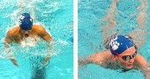 Team Captain Olivia Chick won first in two events, the 100-yard and 200-yard freestyle, at last Friday's district meet. She set a new YSHS record in the 200-yard freestyle event. At the same meet, Team Captain Aman Ngqakayi won first in the 100-yard breaststroke, breaking the one-minute barrier, and seventh in in the 100-yard freestyle. Other members of the team also showed a strong effort. This week, Chick and Ngqakayi advance to the state finals in Canton. (Submitted Photos)