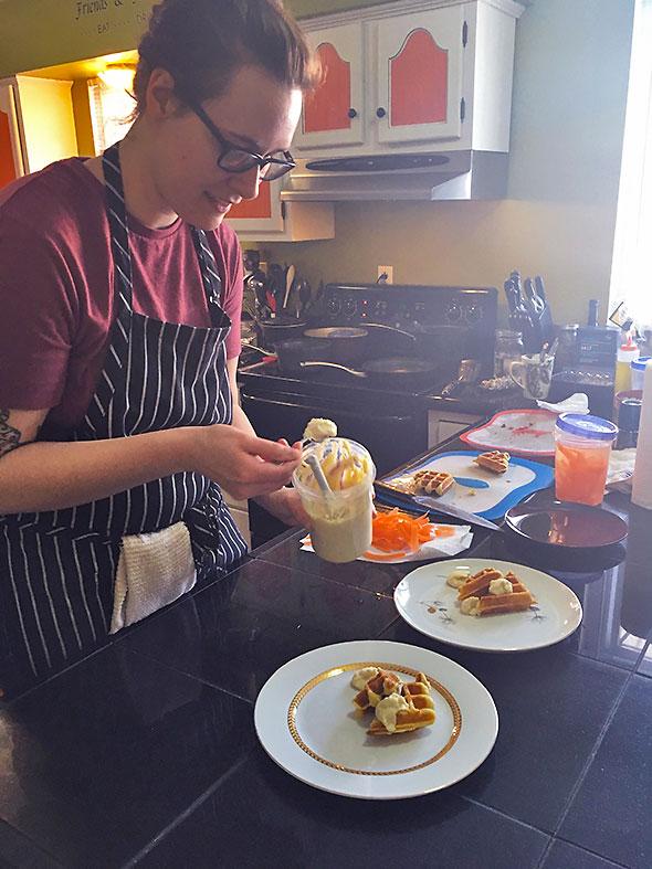 Emily Kline preps plates