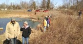 Tecumseh Land Trust and YS Environmental Commission volunteers walked the Glass Farm wetland area on Sunday, Feb. 28, to make plans to enhance habitat there. The project is funded by the Clean Ohio Open Space Fund, and advisors from Beavercreek Wetlands and Five Rivers Metroparks joined in the walk. (Submitted photo)