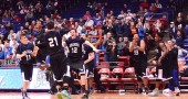 The Bulldogs ran out onto the floor of the University of Dayton Arena on Thursday night just after the buzzer sounded and the Bulldogs won the District IV title.