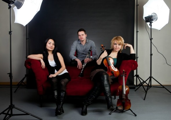 The Zodiac Trio of the Manhattan School of Music will perform in the Chamber Music Yellow Springs series on Sunday, March 20, at 7:30 p.m. at the First Presbyterian Church. Shown above are pianist Riko Higuma, clarinetist Kliment Krylovskiy and violinist Vanessa Mollard. (Submitted Photo)