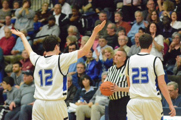 Try as they might, the Bulldog boys lost 46-39 against Jackson Center Friday night. (Photo by Daniel Deaton)