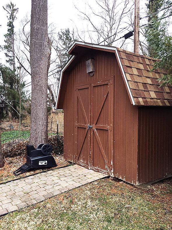 shed, aka skunk family residence
