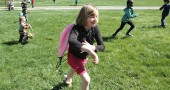 About 60 children took part in last Saturday's annual Easter egg hunt at the Gaunt Park hill. It was a perfect spring day as kids sprinted up the hill, searching for goodies in the grass. (Photos by Diane Chiddister)