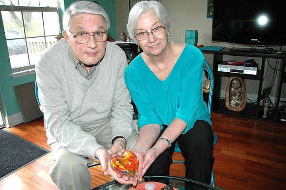 Tom Malcolm and Denise Runyon teach Heart Rhythm Meditation each Tuesday evening at the Friends of the Heart Center at 794 Dayton St. They are sponsoring a workshop April 16 and 17 that features Susanna Bair, the co-creator of Heart Rhythm Meditation and co-founder of the Institute of Applied Meditation, who will explain the technique in a daylong workshop and work with individuals in a half-day heart danshan. (Photo by Diane Chiddister)