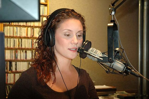 "April Laissle, 23, is WYSO's new morning on-air host and news reporter, filling the vacancy left by Ariel Van Cleave. She came to the station from WOUB Public Media in Athens, after graduating from Ohio University in 2015. She called her new position at WYSO her ""dream job."" (Photo by Carol Simmons)"