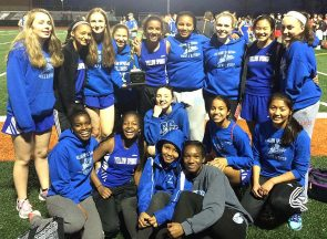 The Bulldog girls track and field team took second place at a 12-team meet at Waynesville last week, with individual atheletes snagging several first-place finishes. Pictured bottom row, left to right: Dyemeisha Banks, Christina Banks, Kelli Baxter and Stacia Strodes. Middle row: Charlotte Walkey (hand on chin), Julie Roberts and Olivia Brintlinger-Conn. Back row: Alexa Spitz, Kayla Brown, Hannah Lawson, Jude Meekin, Ayanna Madison, Jasmine Davidson, Dani Worsham, Aliza Skinner and Payden Kegley. Not pictured: Ayeshia Allison, Lily Bryan, True Hall and Amani Wagner. (Submitted photo)