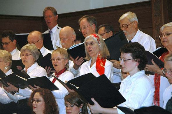 """The Yellow Springs Community Chorus and Yellow Springs Orchestra will perform Haydn's """"The Creation"""" on Sunday, May 8, at 7:30 p.m. at the First Presbyterian church. The chorus is shown here during a performance of """"The Messiah"""" in December 2015."""