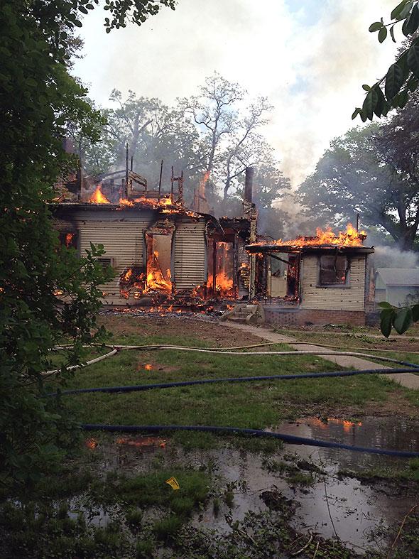 Barr House Burn