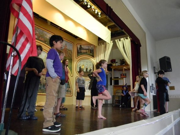 Students rehearse for the Antioch School spring musical, which will be held April 29 and 30 at Clifton Opera House.
