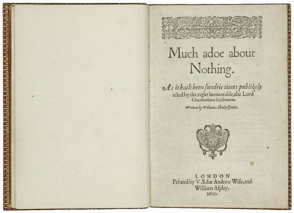 By William Shakespeare, Valentine Simmes (printer), Andrew Wise (publisher), William Aspley (bookseller) - Folger Shakespeare Library Digital Image Collection http://luna.folger.edu/luna/servlet/s/hyyrn6, CC BY-SA 4.0, https://commons.wikimedia.org/w/index.php?curid=40929008
