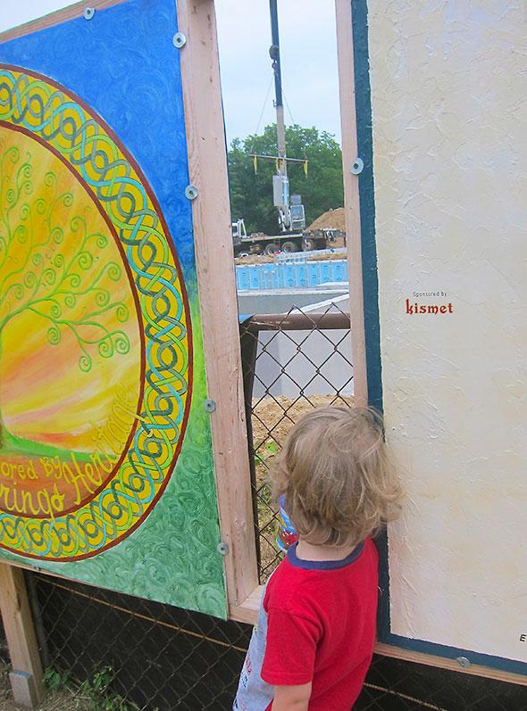 through the art fence