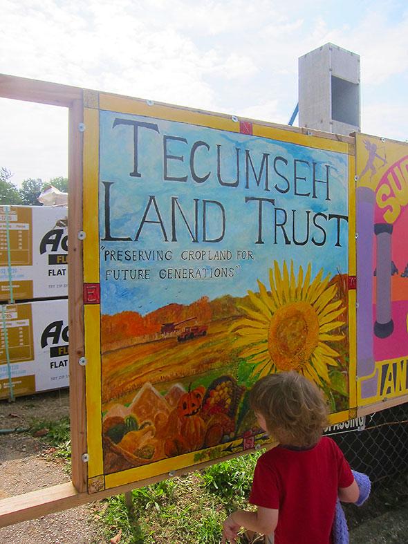 Tecumseh Land Trust mural