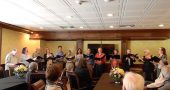 Local choral ensemble Vocal Vortex celebrated Ron Siemer's 82nd birthday with a brief concert on Sunday in the Mills Park Hotel's conference room.