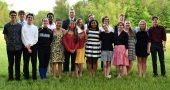 Eighteen students were inducted into the YSHS National Honor Society on May 11. Pictured, left to right, are Gabe Trillana, Augie Knemeyer, Landon Rhoads, Hannah Morrison, Jordan White, Olivia Brintlinger-Conn, Julian Roberts, Isaiah Slepicka (behind), Charlotte Walkey, Elizabeth Smith, Duard Headley (behind), Callie Smith, Ziven Siler (behind), Holly Weir, Danny Grote (behind), Danielle Horton, Annabel Welsh and Sam Green. (Submitted Photo)
