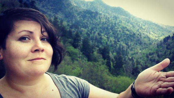 "On the Tennessee side of Great Smoky Mountains National Park. (Selfie by Lauren ""Chuck"" Shows)"