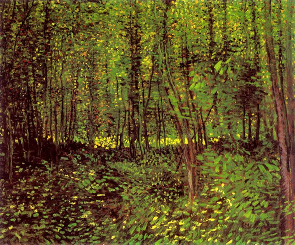 "Vincent van Gogh, ""Trees and Undergrowth,"" 1887. (Via Wikiart)"