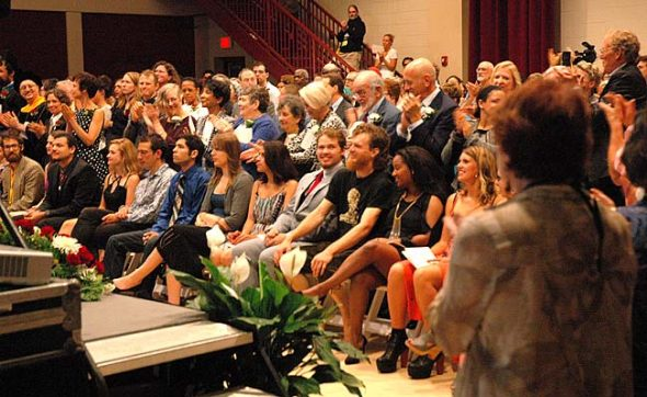 The commencement ceremony for the Antioch College Class of 2016 takes place this Saturday, June 18, at 10 a.m. Shown above is last year's graduating class, the first since the college reopened in 2009.