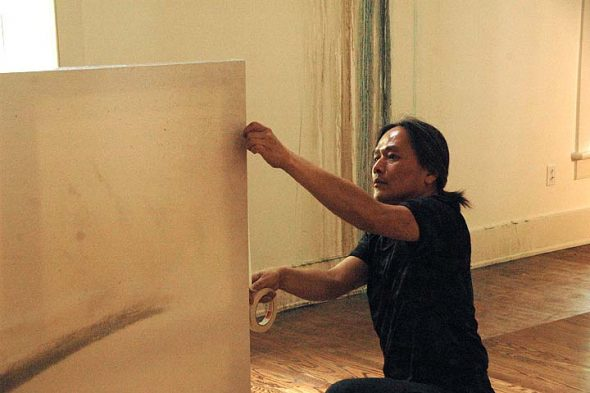 Shinji Turner-Yamamoto is creating a site specific show at the Herndon Gallery as part of being artist in residence at Antioch College this summer.