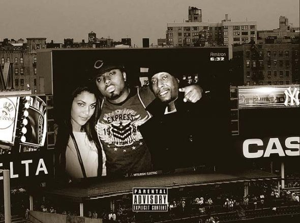 Issa Ali (area resident Issa Walker, center) is featured on a new single with legendary Brooklyn rapper Talib Kweli (right). Walker wrote, produced and performed on the track, which is available online. According to Walker, his approach to the song was simple: bring back the timeless hip-hop sound of serious lyricism over a classic beat. (Submitted photo)