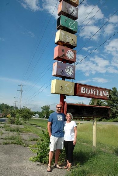 Nate Cornett and Lisa Wolters, owners of the Yellow Springs Brewery, recently purchased the old bowling alley on the south edge of town to use as a warehouse distribution center. (Photo by Diane Chiddister)