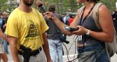 Antioch College student Lillian Burke interviewed an open carry activist at last week's Republican National Convention in Cleveland. Burke and a number of fellow students went to the convention, where they spoke with activists and attendees of all stripes as part of Professor Charles Fairbanks' media arts class. (Submitted photo)