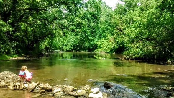 The Little Miami River at Jacoby Road.