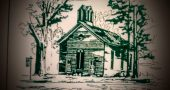 Drawing of the former Wiltonville Methodist Church, from the Wilton Heritage Society Museum pamphlet.