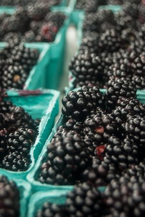 Finely textured berries are freshly picked and ready to eat.