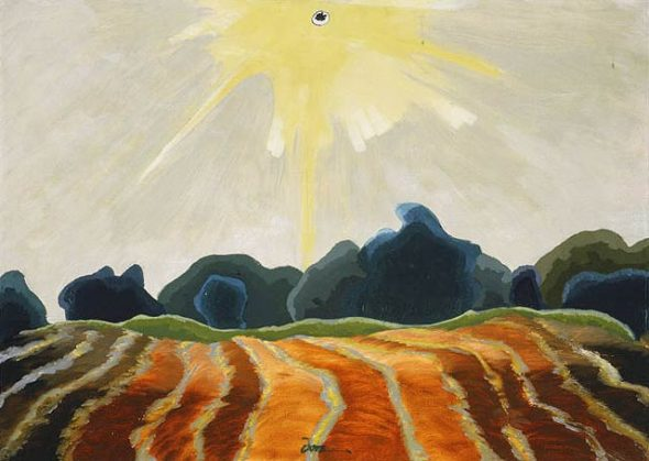 "Arthur Dove, ""Morning Sun,"" 1935. Via Wikiart."