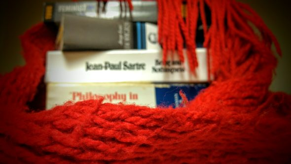 """The library will host the """"Red Scarf Project"""" Nov. 3, 10 and 17."""