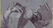 "Albrecht Durer, ""Two Hands Holding a Pair of Books."" (Via Wikiart)"