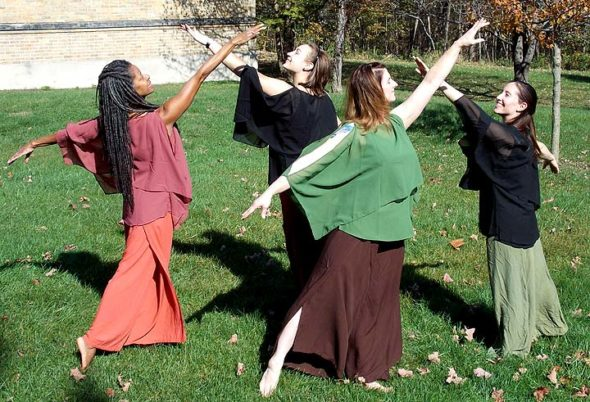 "A dance performance titled ""How Music Moves Our Soul"" Pictured at a recent rehearsal are, from left, Valerie Blackwell-Truitt, Sasha Mworinski, Elizabeth Lutz Warren and Myra Valez-Malishenko. The Fall Performance Arts Concert also features a range of local and regional dancers, musicians, poets and theater and visual artists in a wide-ranging celebration of area talent. (Submitted photo)"