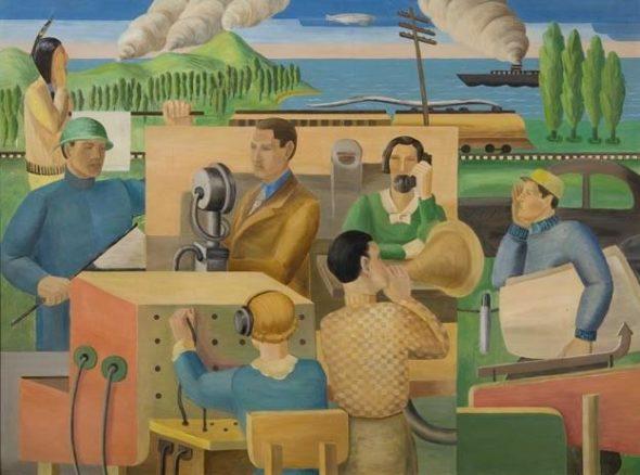 "Ingrid Edwards, ""Communications,"" 1936. Created for the WPA."