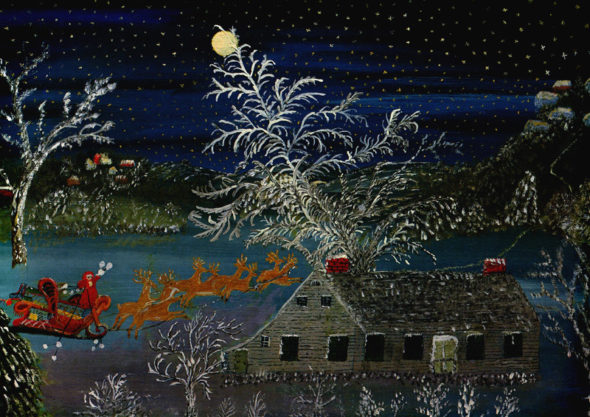 "Grandma Moses, ""So Long Till Next Year,"" 1960. Via Wikiart."