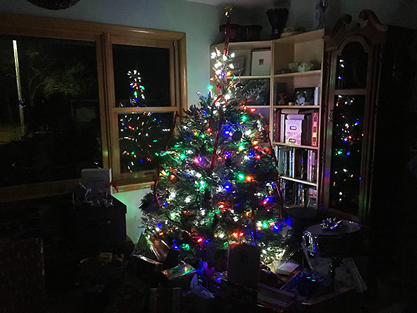 about the tree on christmas morning