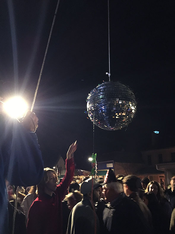 at the annual New Year's Eve ball drop