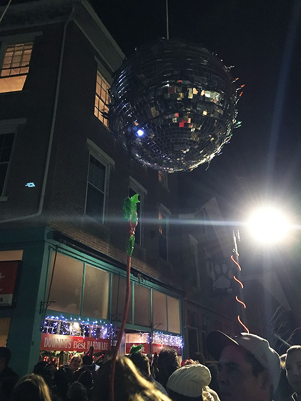 disco ball decked with lights